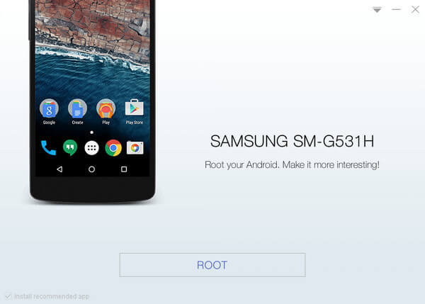 Root Samsung Galaxy Grand Prime SM-G531H with KingoRoot, the best one-click Android root tool.